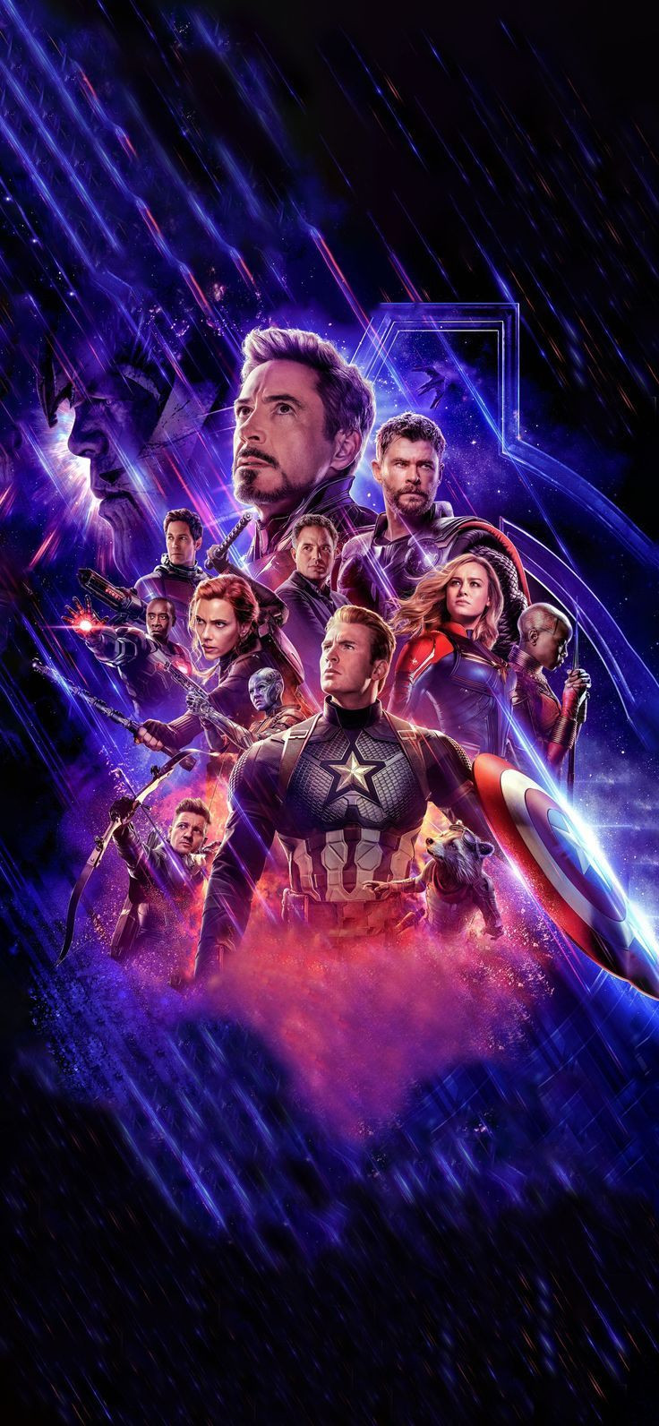 Avengers Endgame Textless Phone Wallpaper