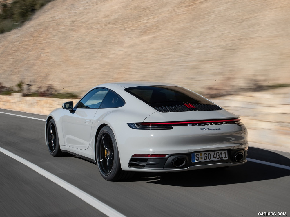 2020 Porsche 911 S Color Crayon Rear Three Quarter HD