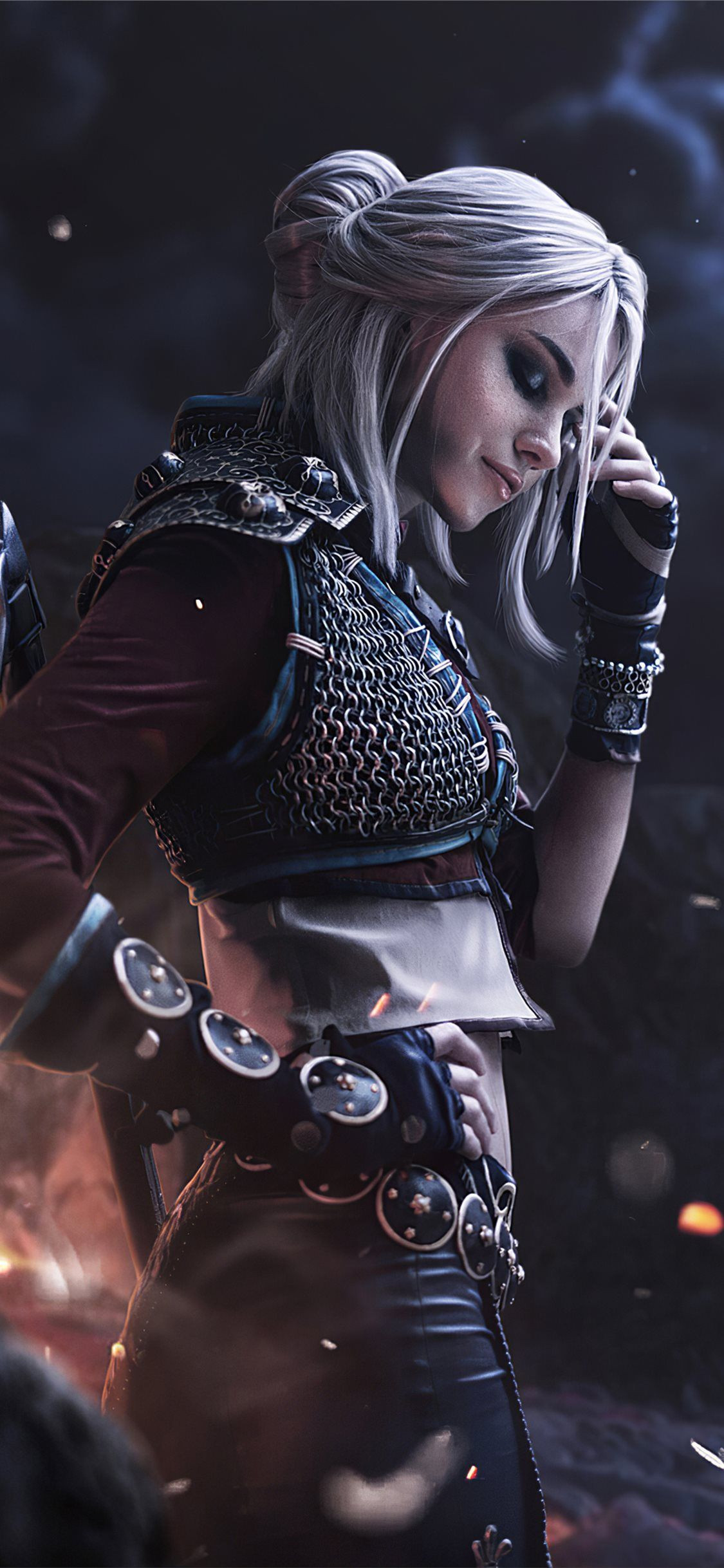 ciri witcher cosplay 4k iPhone X Wallpapers