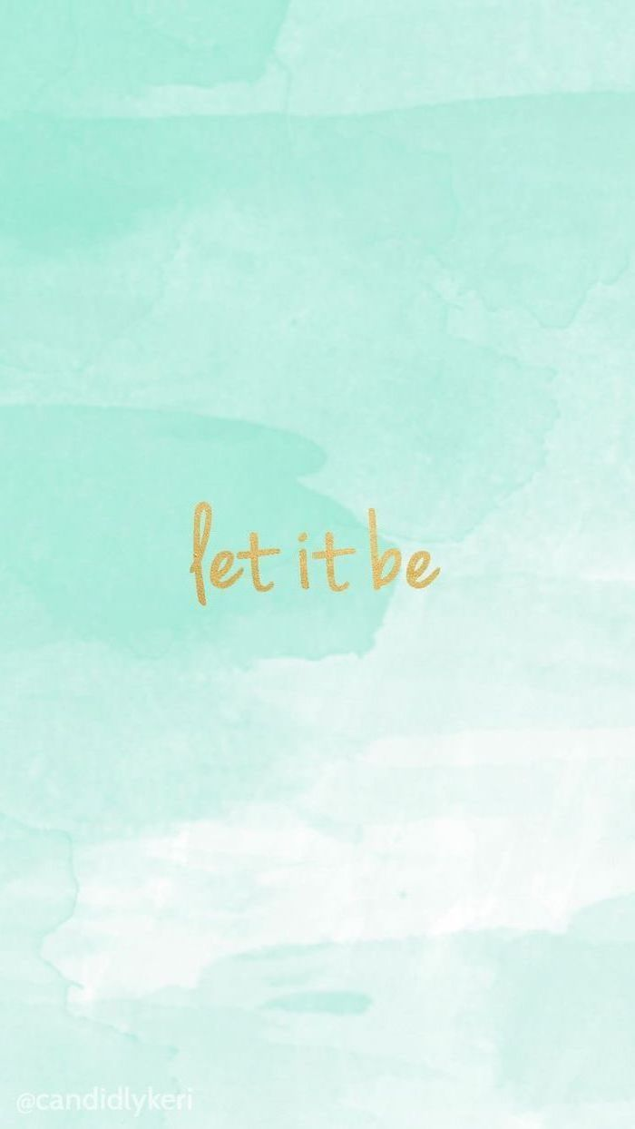 let it be written in gold over blue background aesthetic puter wallpaper blue paint brush strokes