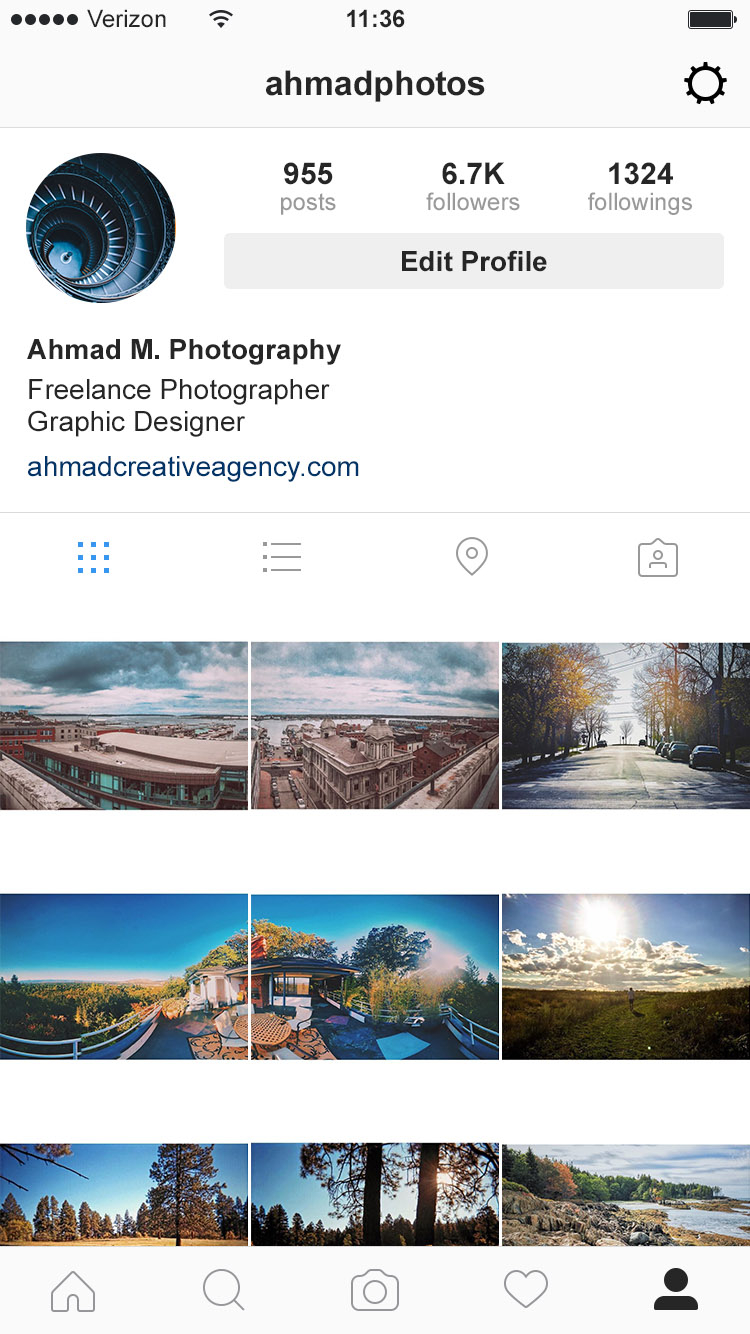 curated profile grids instagram