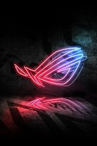 Rog Neon Logo 5k Wallpapers