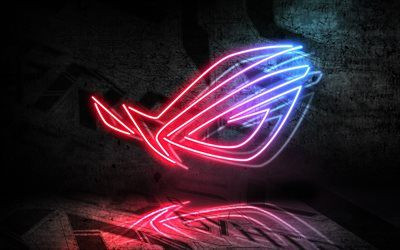 Download wallpapers Republic Gamers 4k logo ASUS art RoG neon logo besthqwallpapers