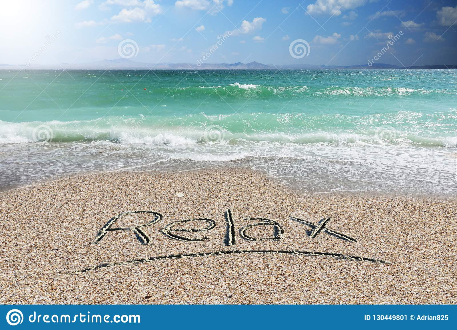 holiday background wallpaper relax word handwritten beach sand holiday background wallpaper relax word