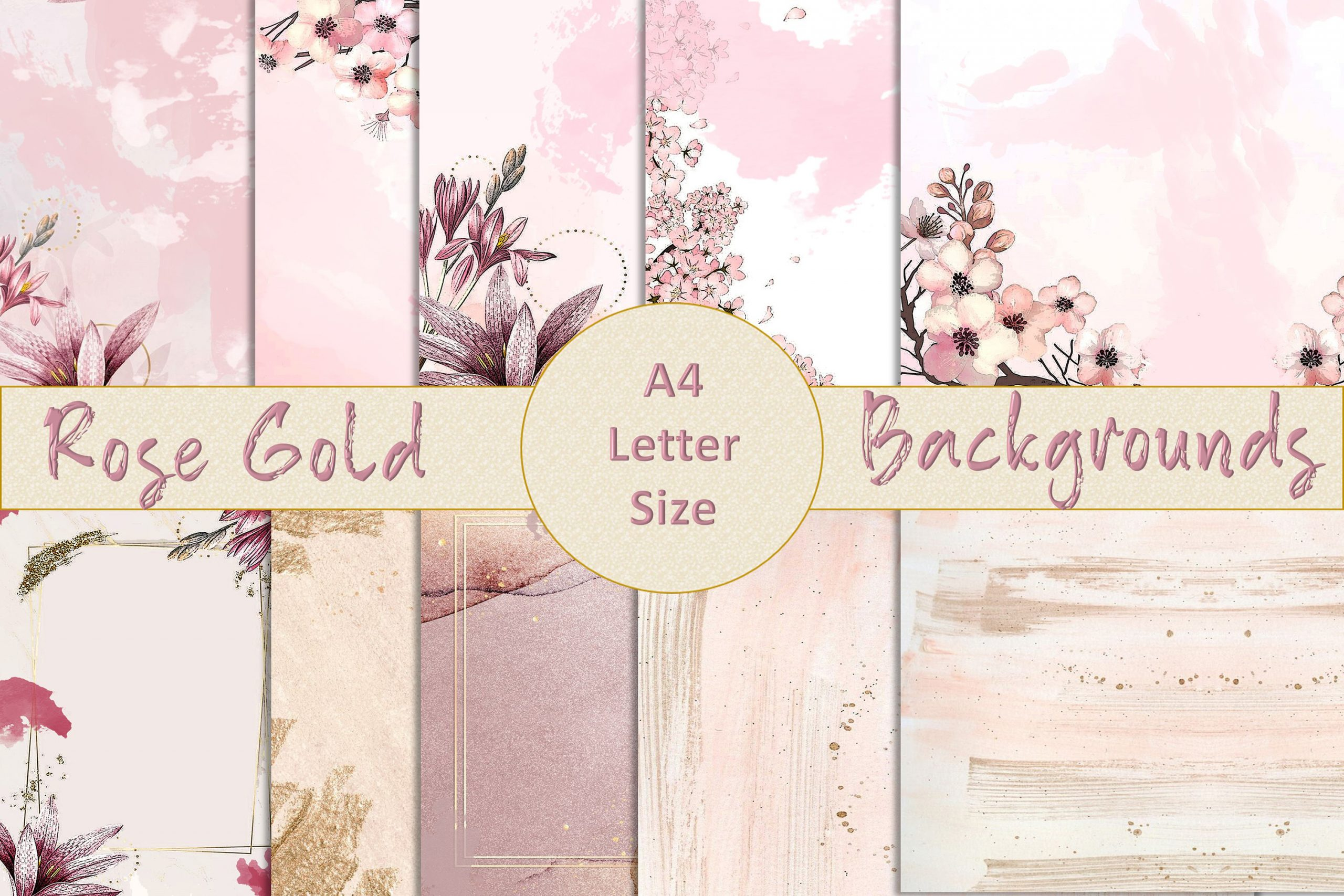 Rose Gold Backgrounds Graphics 1