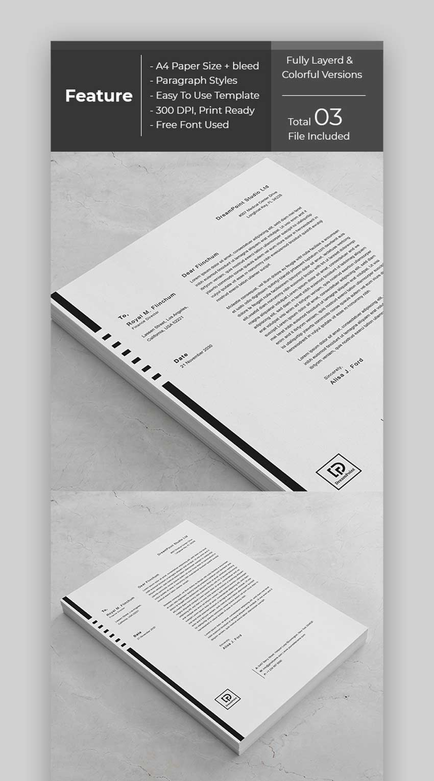 25 best free black white aesthetic letterhead stationery templates 2020