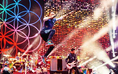 Download wallpapers Coldplay 4k pop rock band concert Wembley Chris Martin besthqwallpapers