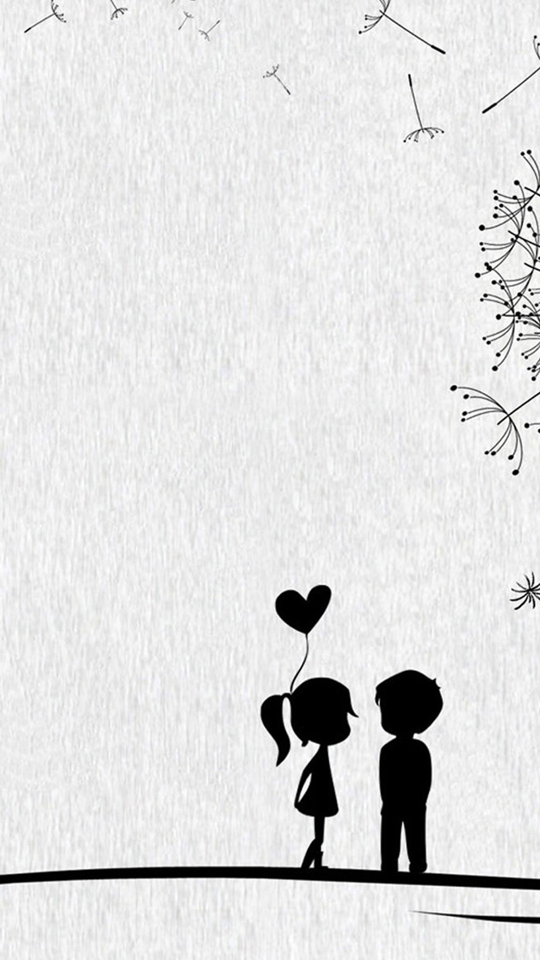 Cute Sweet Love Little Couple iPhone 8 Wallpapers Free Download
