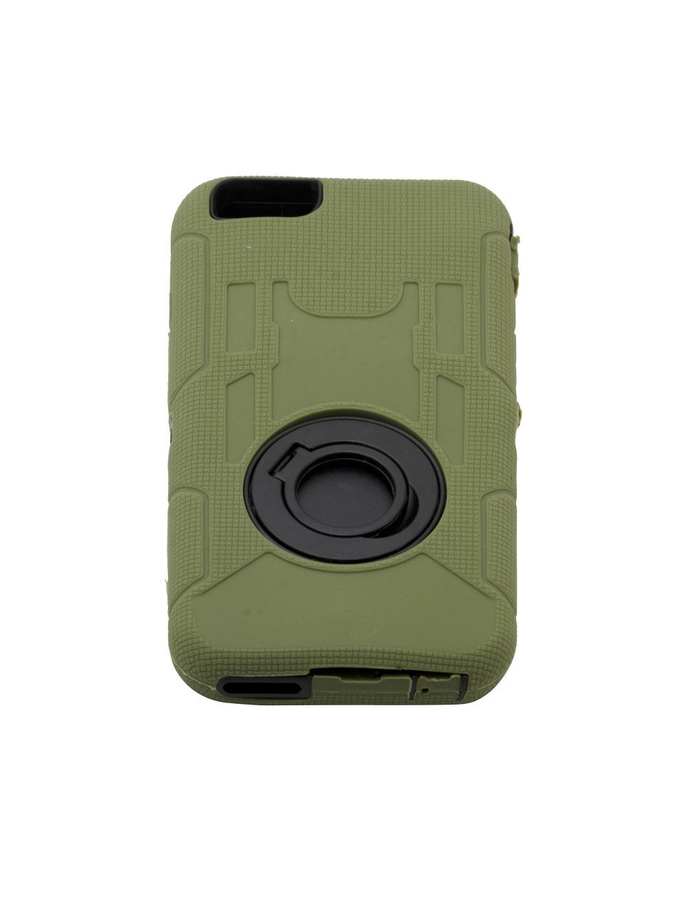rugged shockproof defender armor case with rotating belt clip kickstand for iphone 6 plus dark green