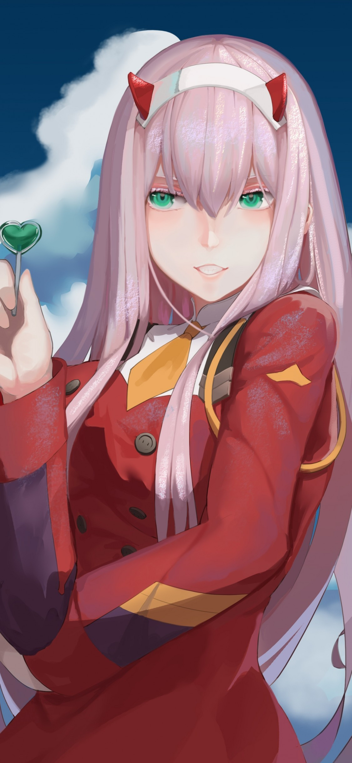 zero two darling in the franxx pink hair