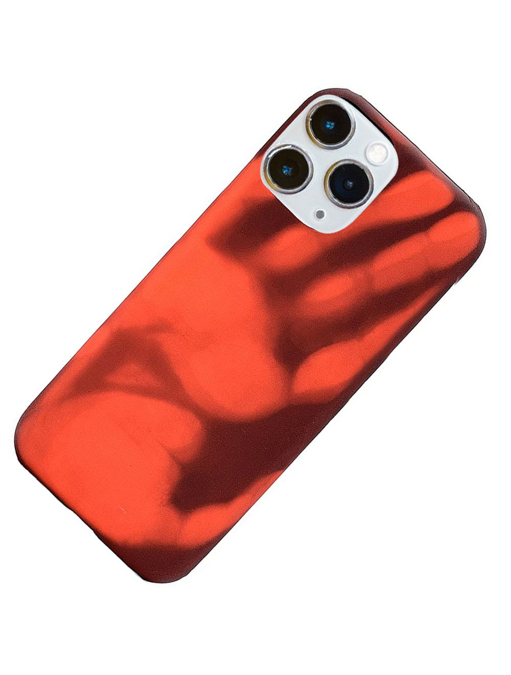 thermal sensor color changing heat sensitive magical tpu back cover case for apple iphone 11 pro max red