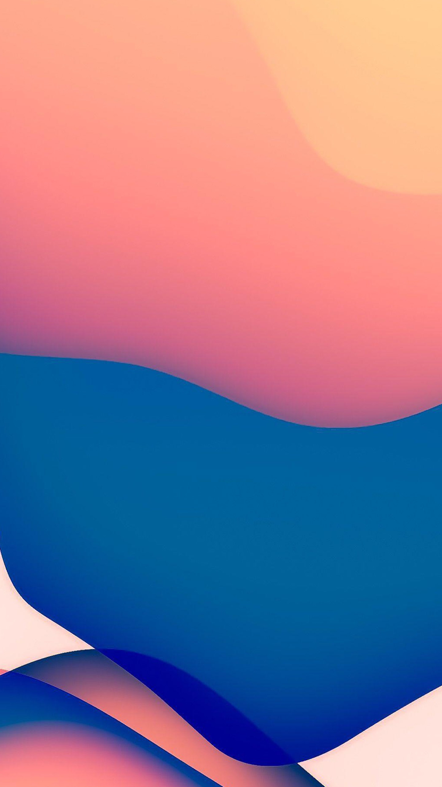 ios 14 wwdc 2020 iphone 12 ipados blue with light orange stock 4k hd abstract wallpapers
