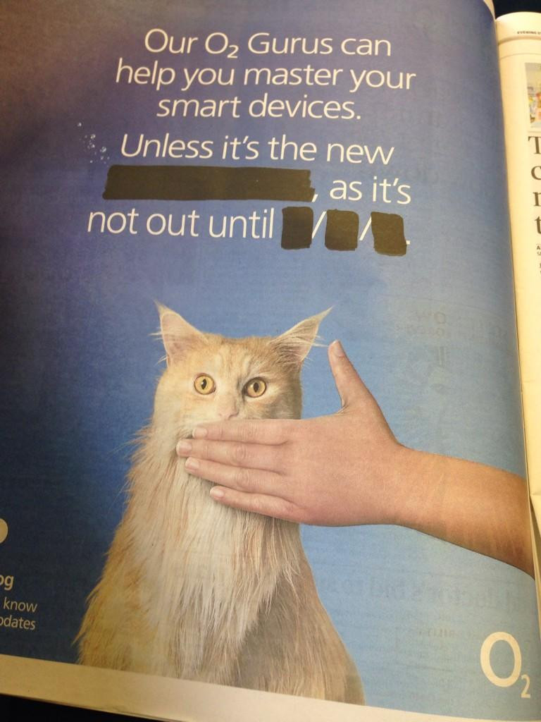 uk carrier o2 teases new iphone with funny newspaper ad