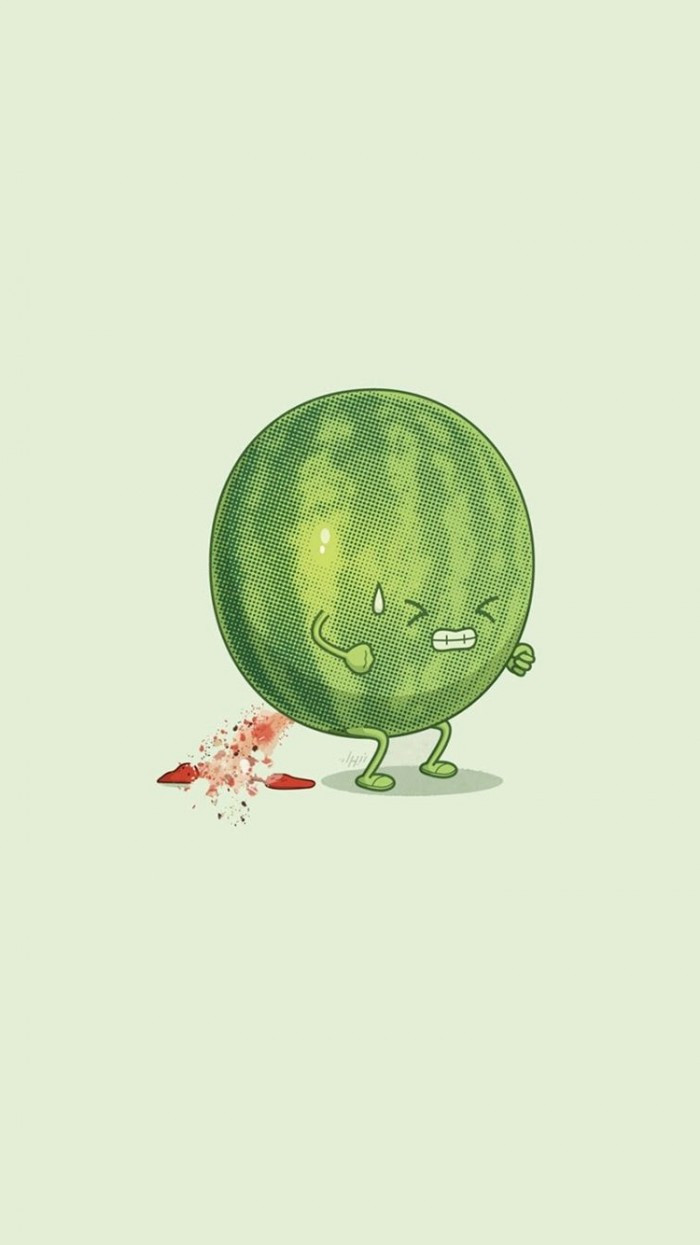 Watermelon Trying Hard Funny iPhone 6 Wallpaper