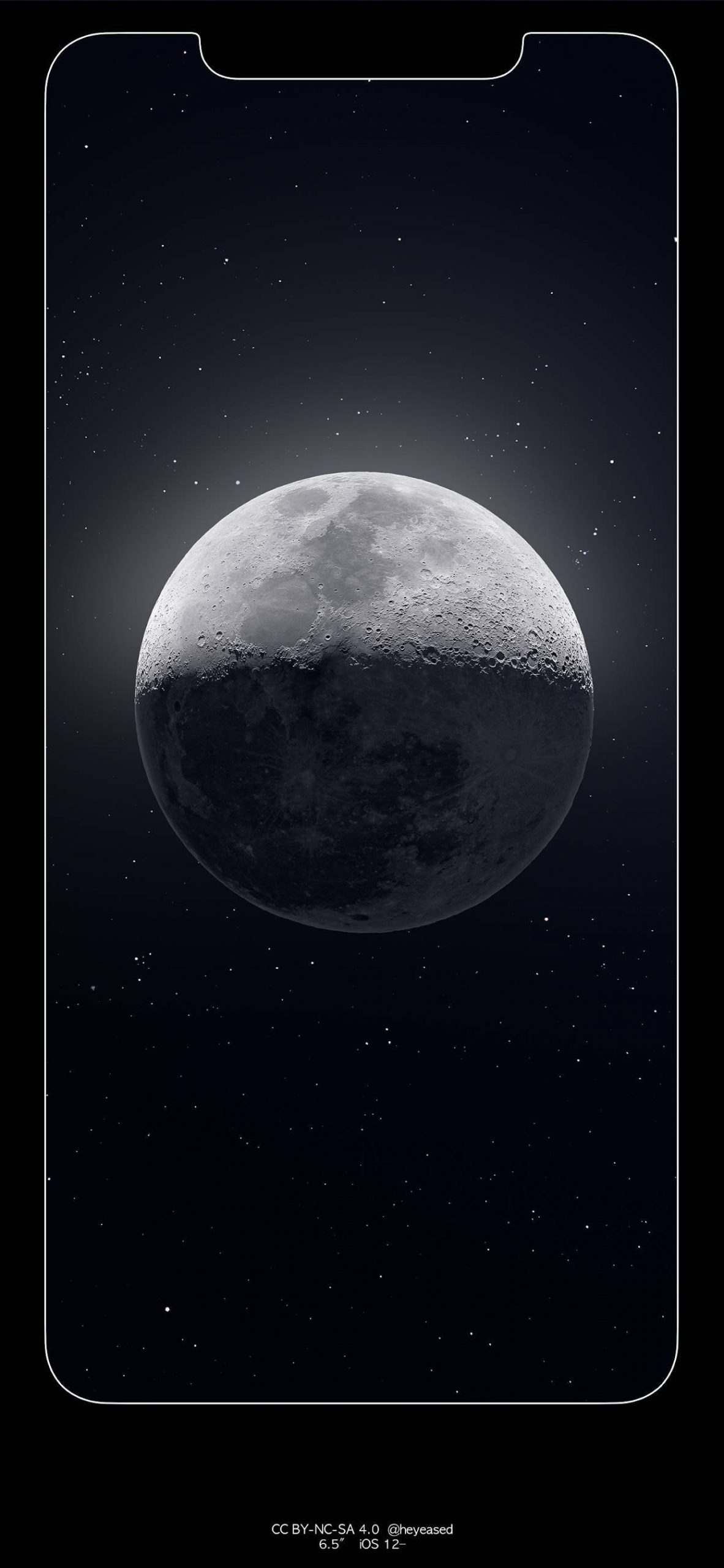 xs max moon border wallpaper