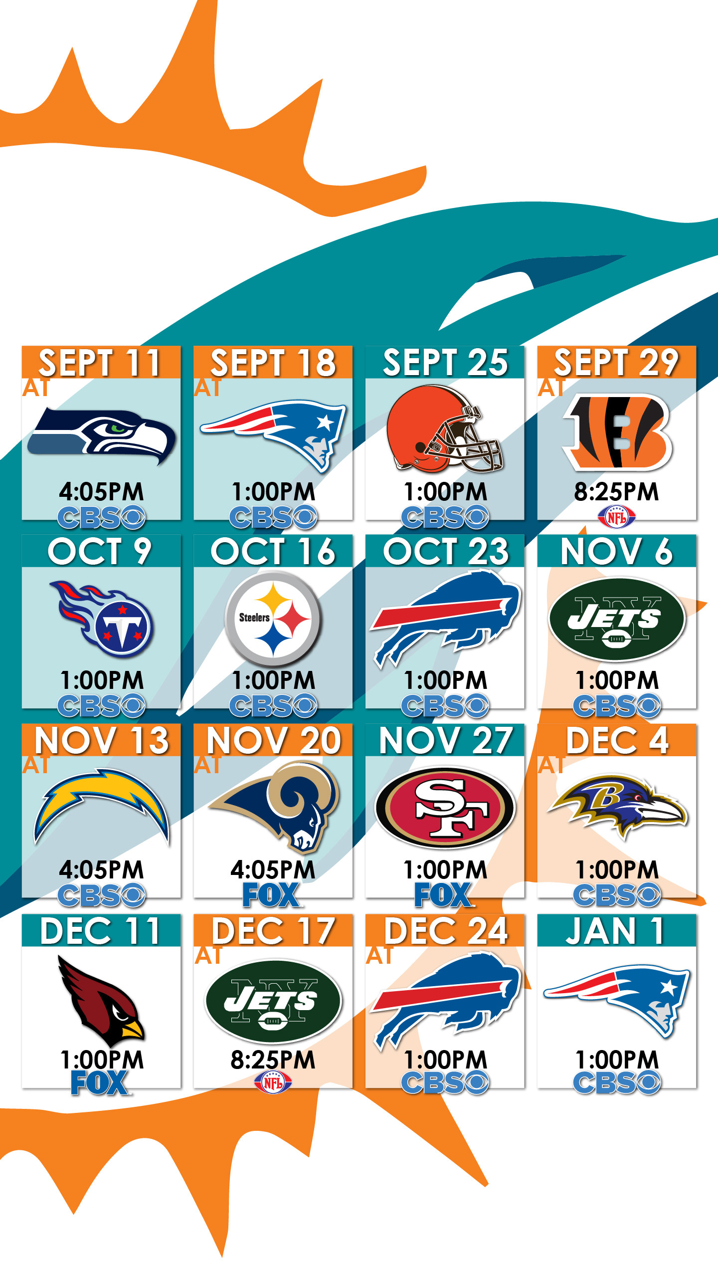miami dolphins schedule wallpaper for iphone