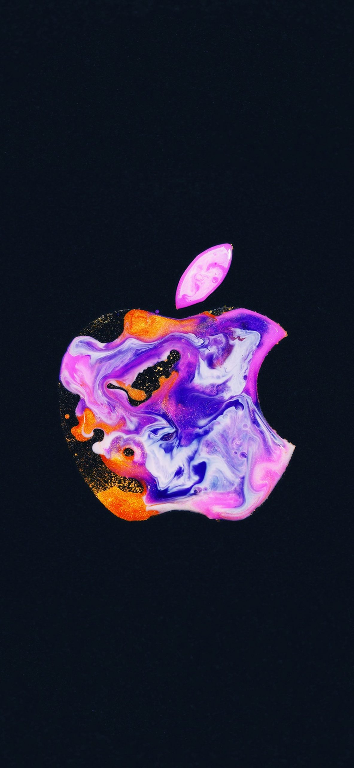 apple logo iphone 12 liquid art black background 1430