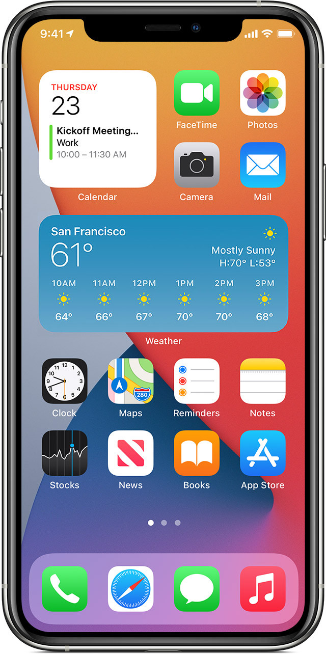 ios14 iphone 11pro wid s home screen