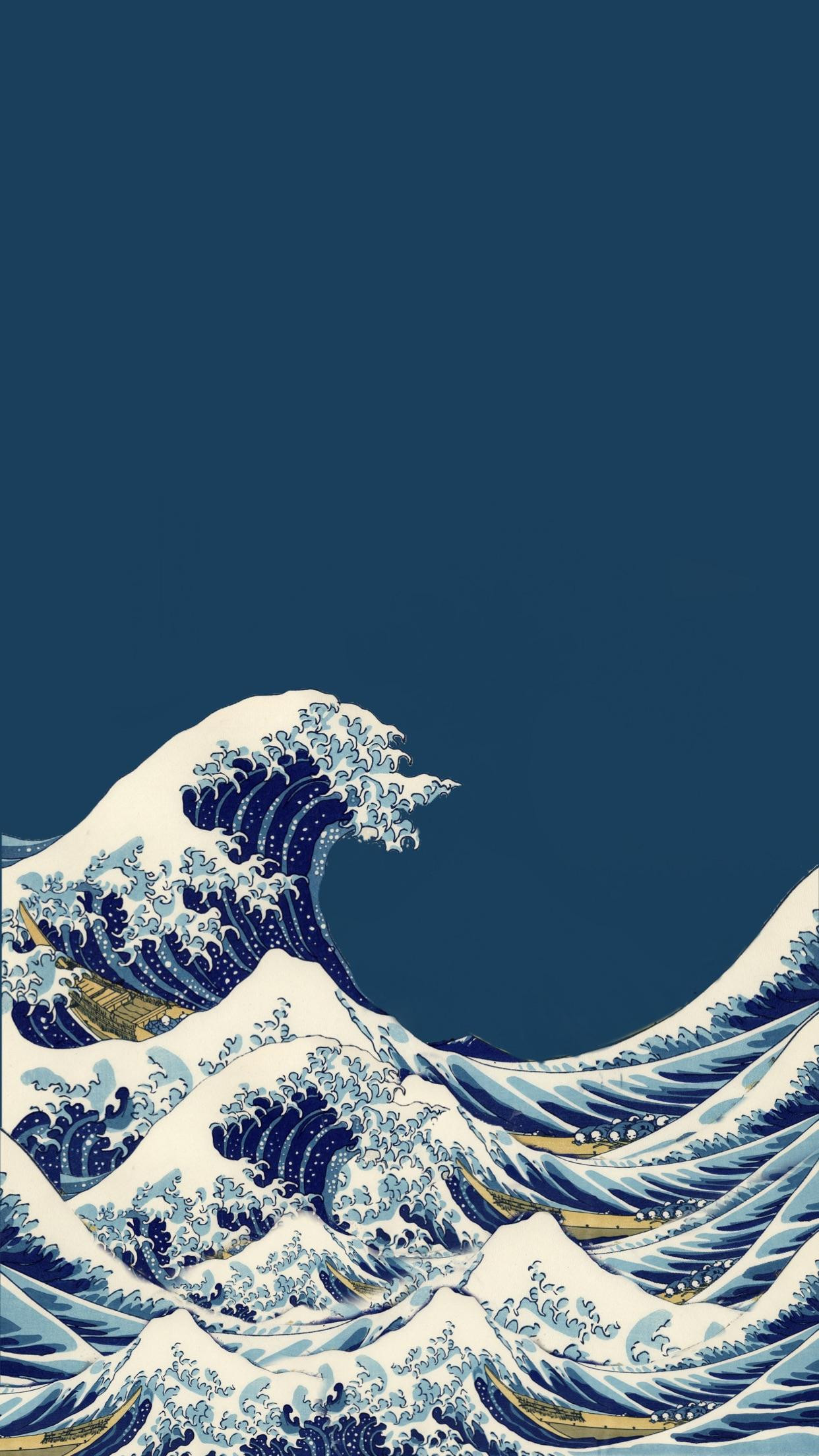ihxbRRx a wallpaper i made iphone the great wave