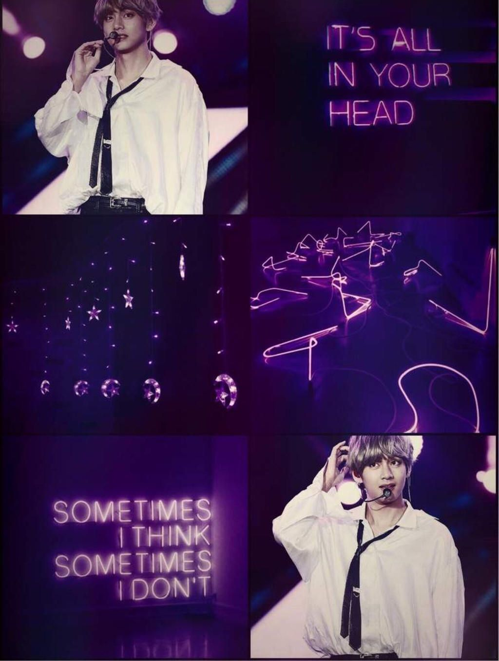 bts v neon purple aesthetic by beaxh bxtch dbth819 fullview