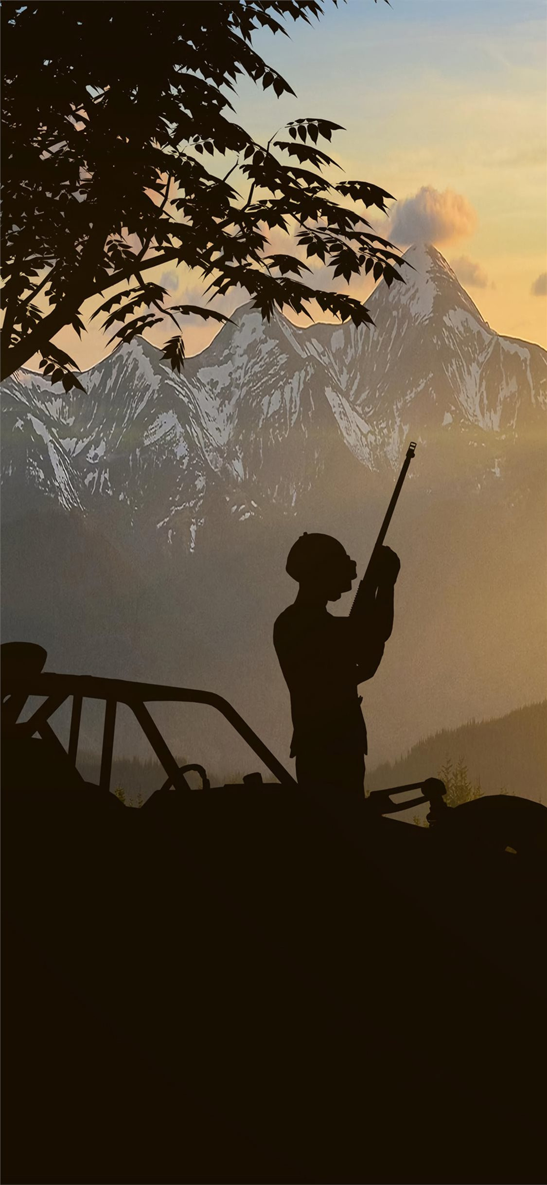 pubg silhouette 4k iPhone X Wallpapers Free Download