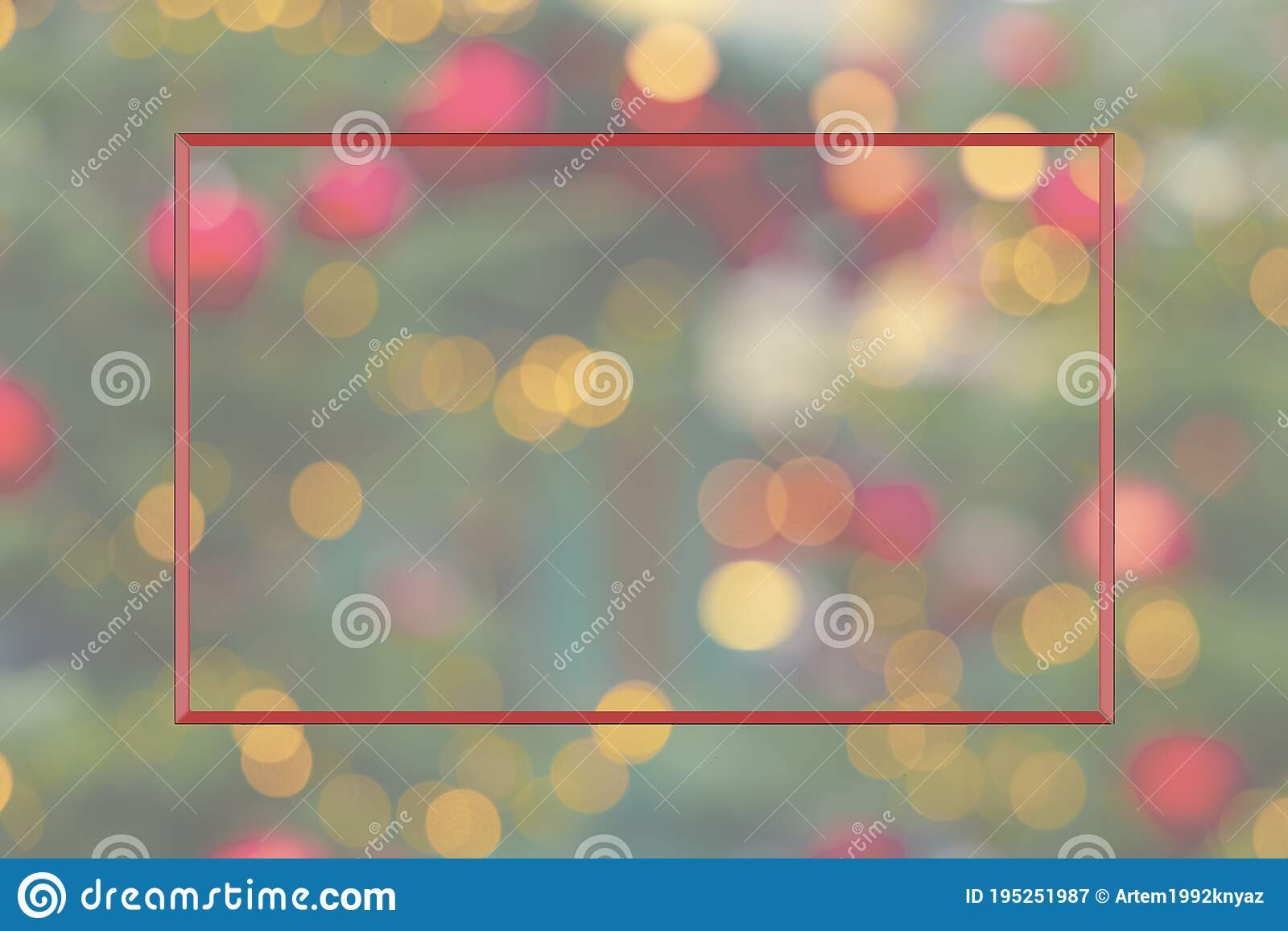 christmas simple background wallpaper pattern frame shape empty copy space your text here blurred illumination bokeh