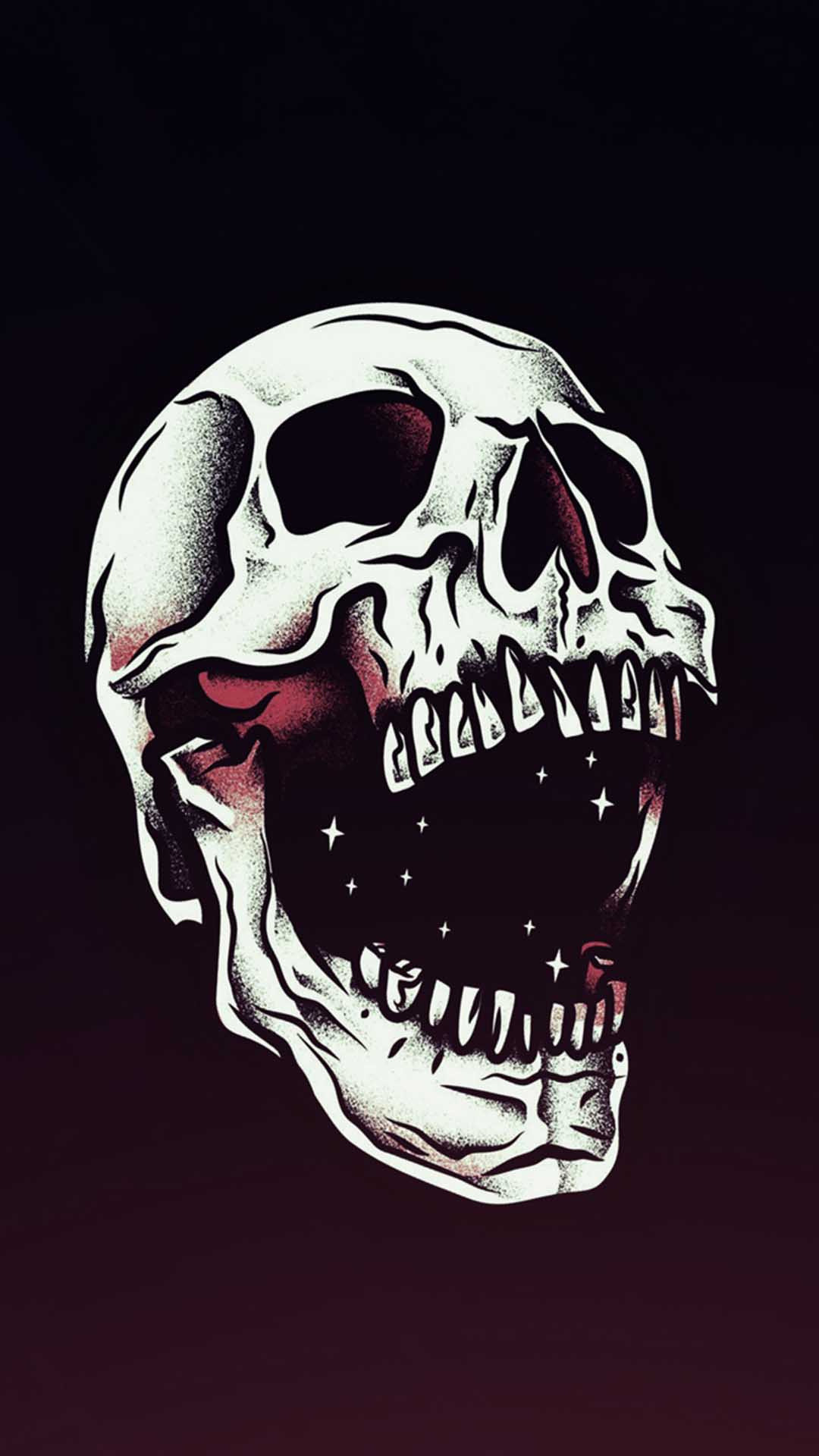 Skull Wallpaper for iPhone X 8 7 6 Free Download on