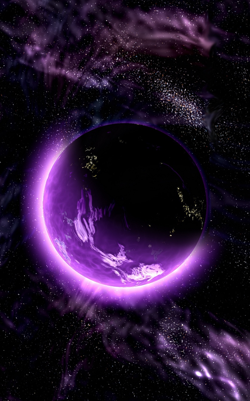 iixhix wallpaper planet space universe galaxy purple iphone purple