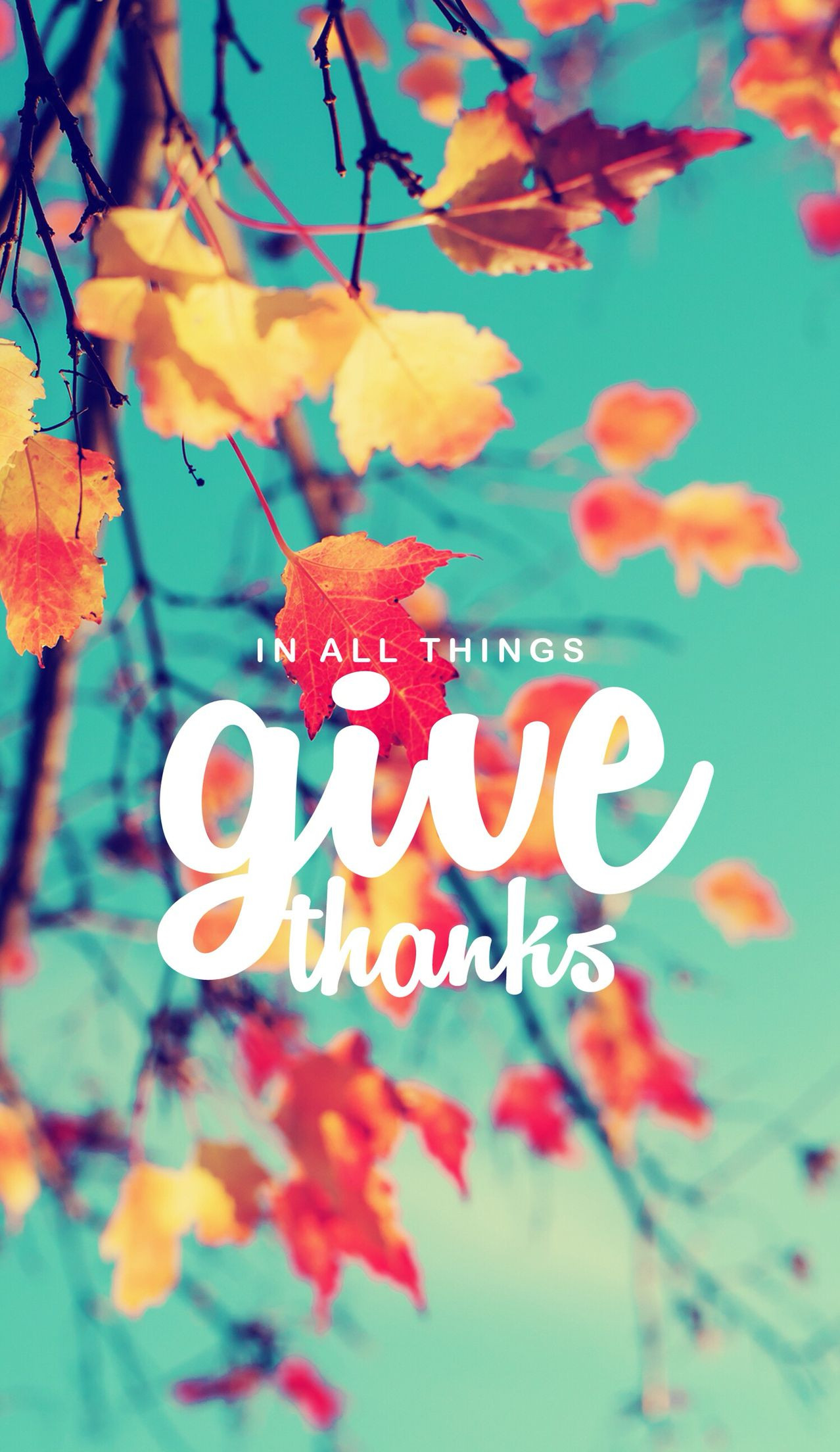 iPhone Give Thanks Wallpaper