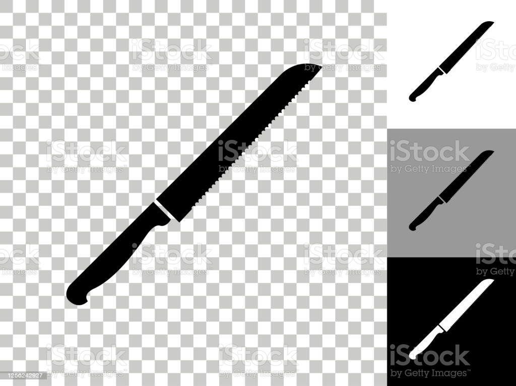knife icon on checkerboard transparent background gm
