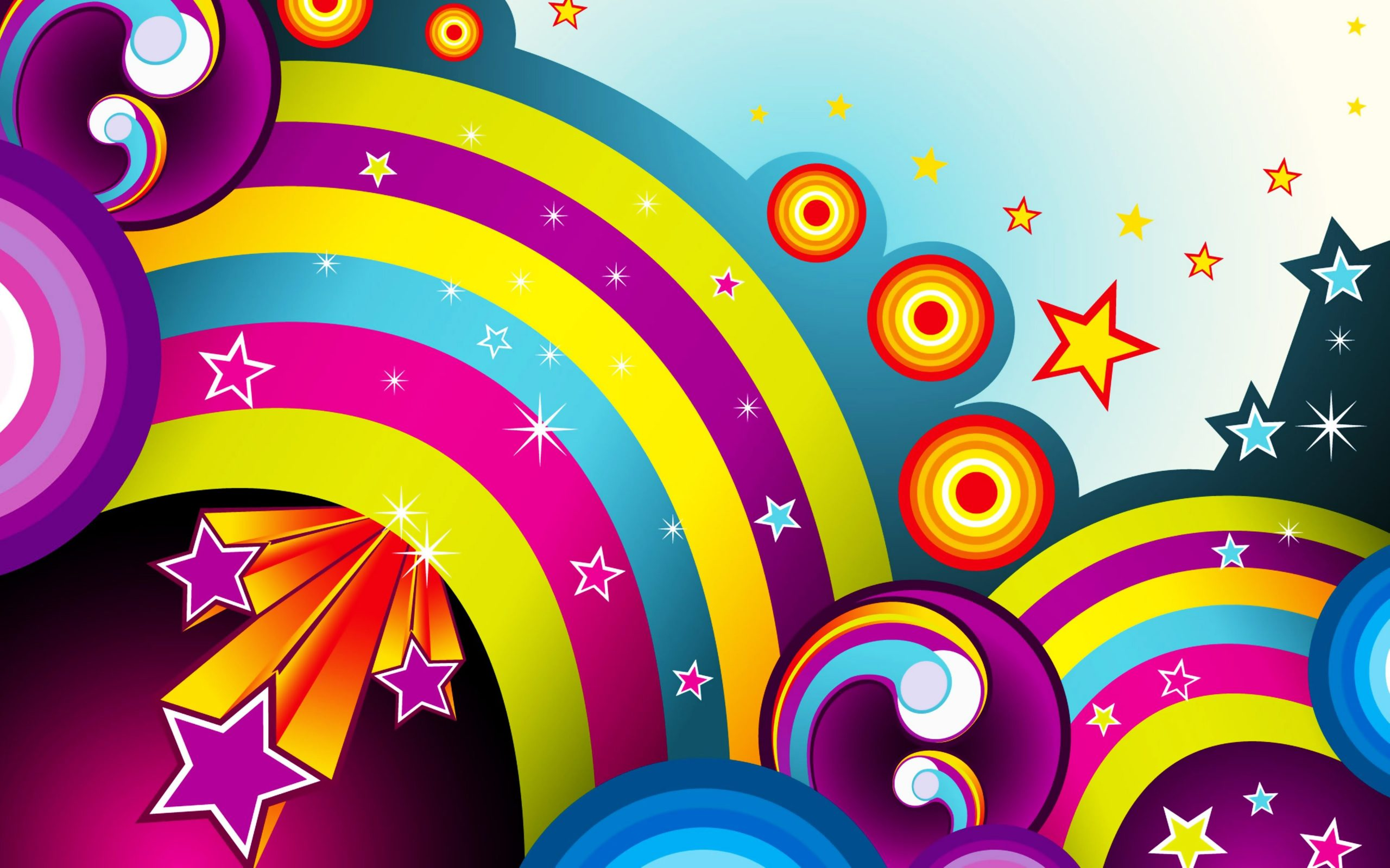 wallpapers colors colorful background rainbow stars