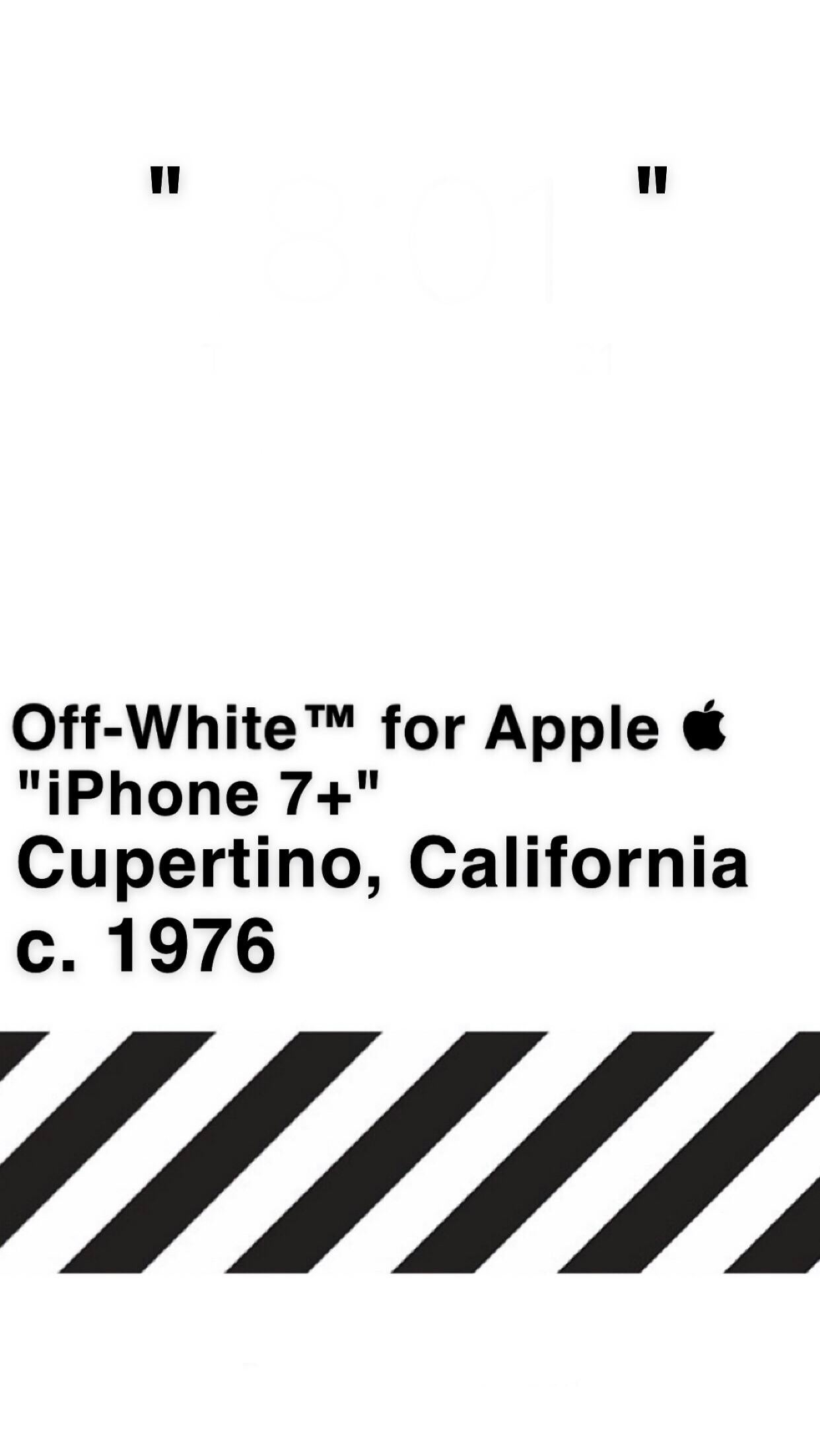 offwhite iphone 7 wallpaper