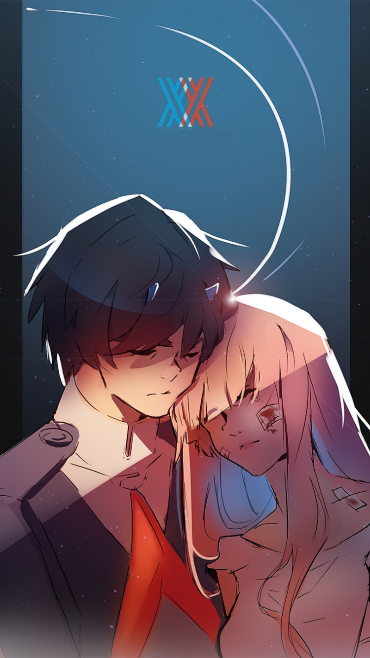 hiro and zero two art